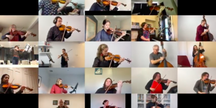 Side by Side virtual orchestra