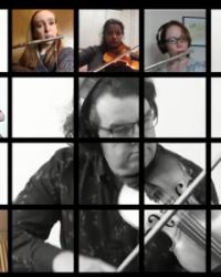 Virtual Orchestra musicians